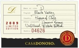 Vang Casa Donoso là chai vang Icon của hãng Casadonoso