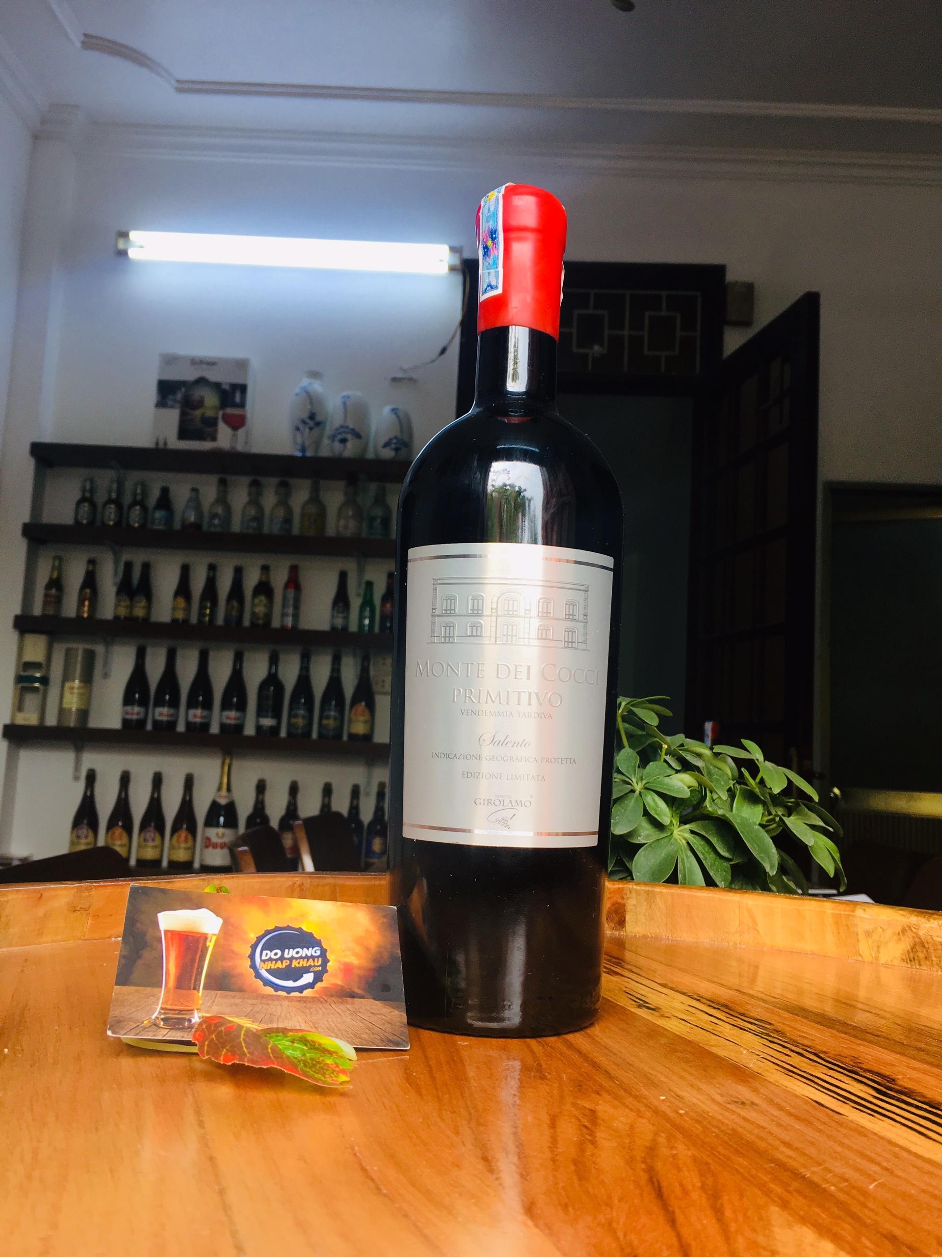 Vang Monte dei Cocci có vị ngọt ngào dễ uống