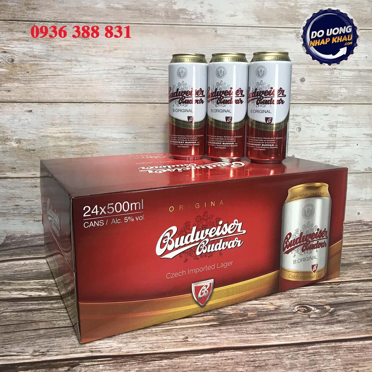 Bia Budweiser Budvar lon 500ml
