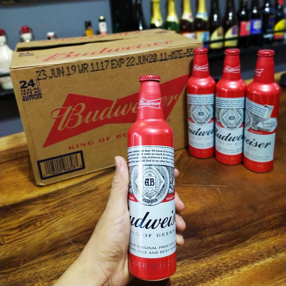 Bia Budweiser Mỹ chai nhôm 475ml nhập khẩu