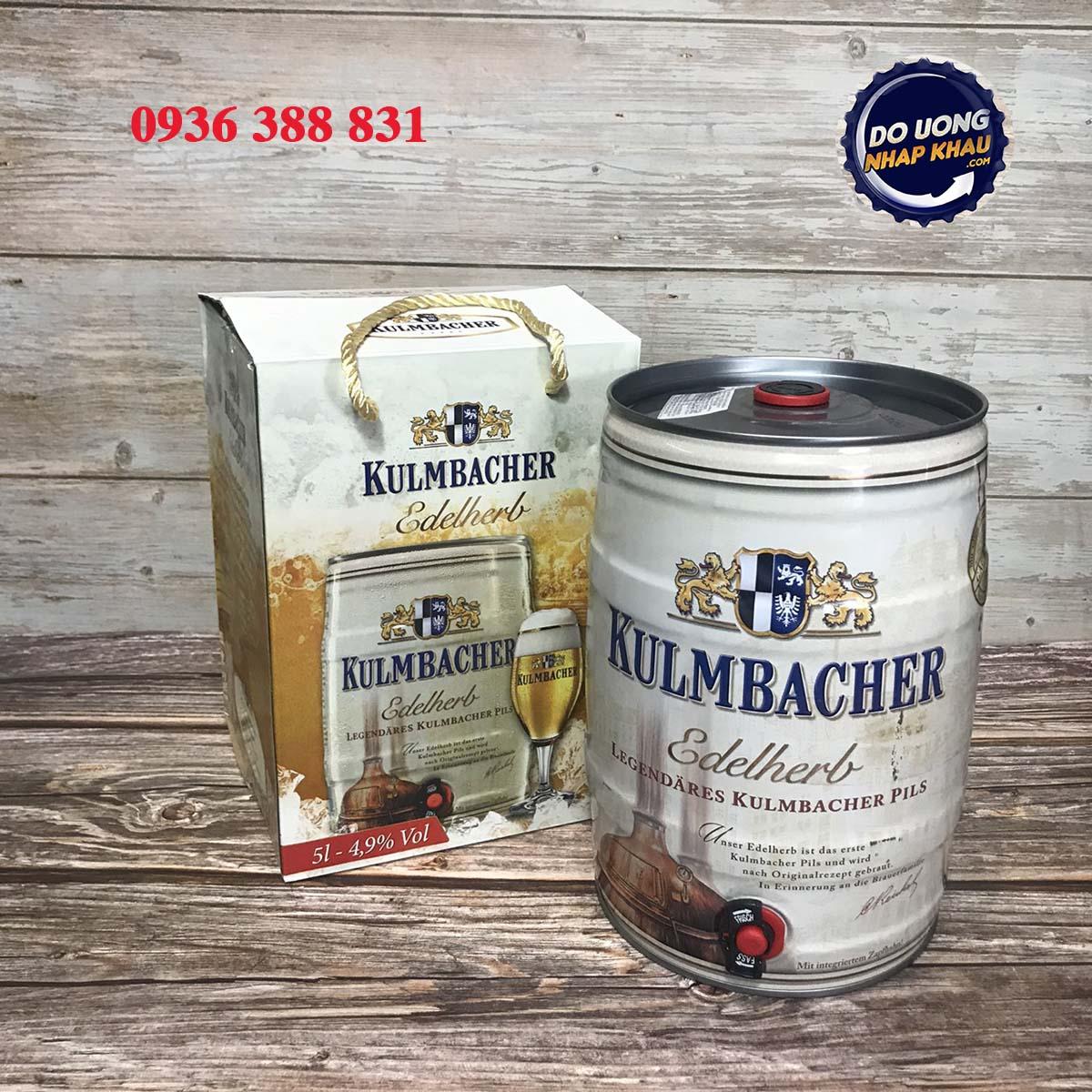 Bom bia Kulmbacher Edelherb 4,9% Đức