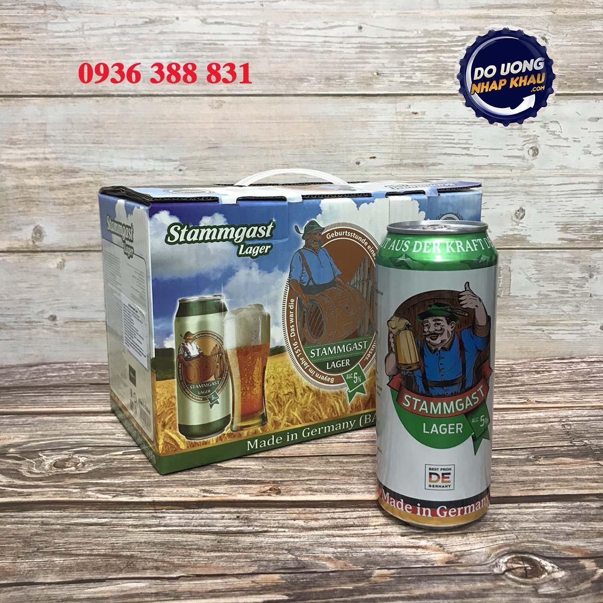 Hộp quà bia Stammgast 5% Đức
