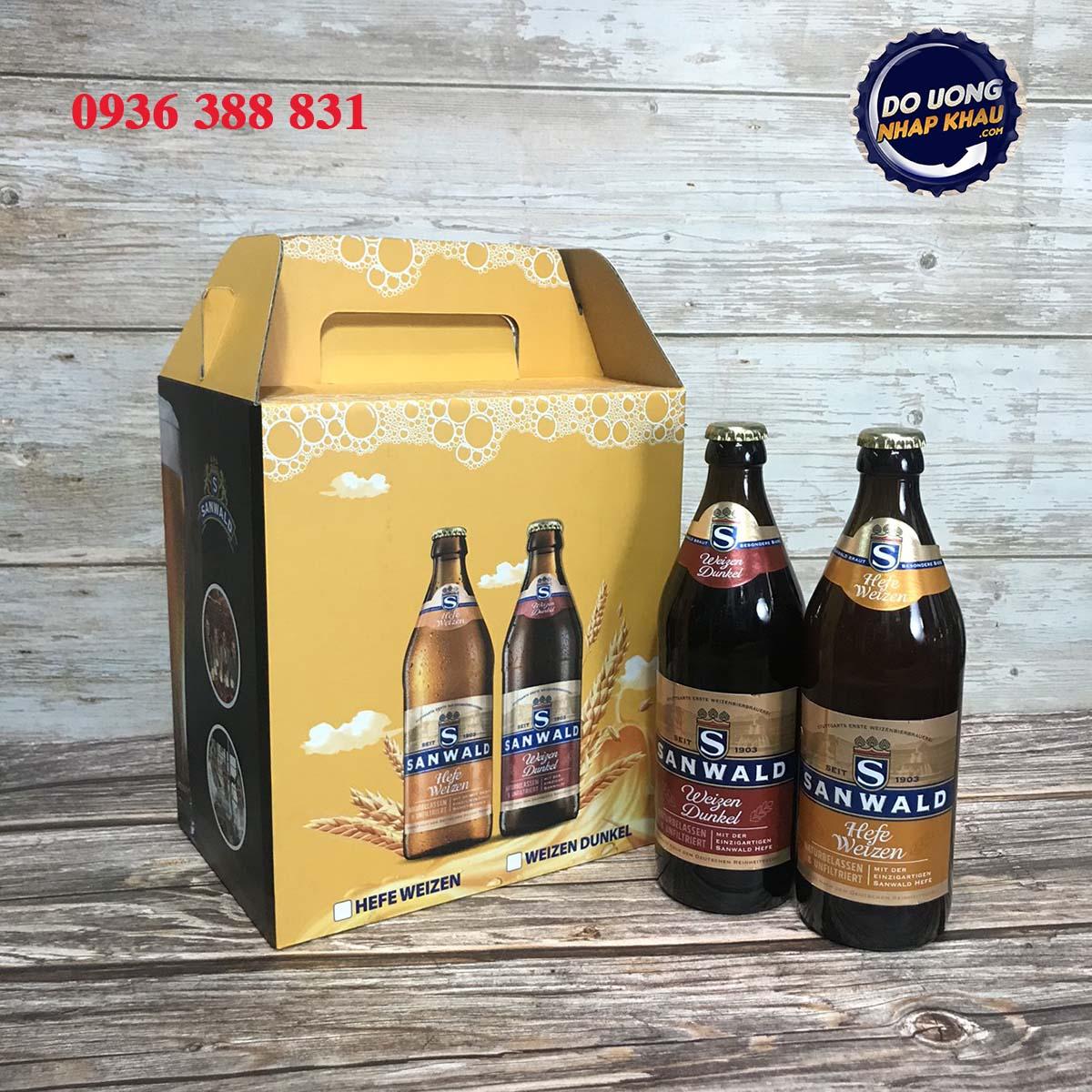 Hộp quà bia Sanwald Đức