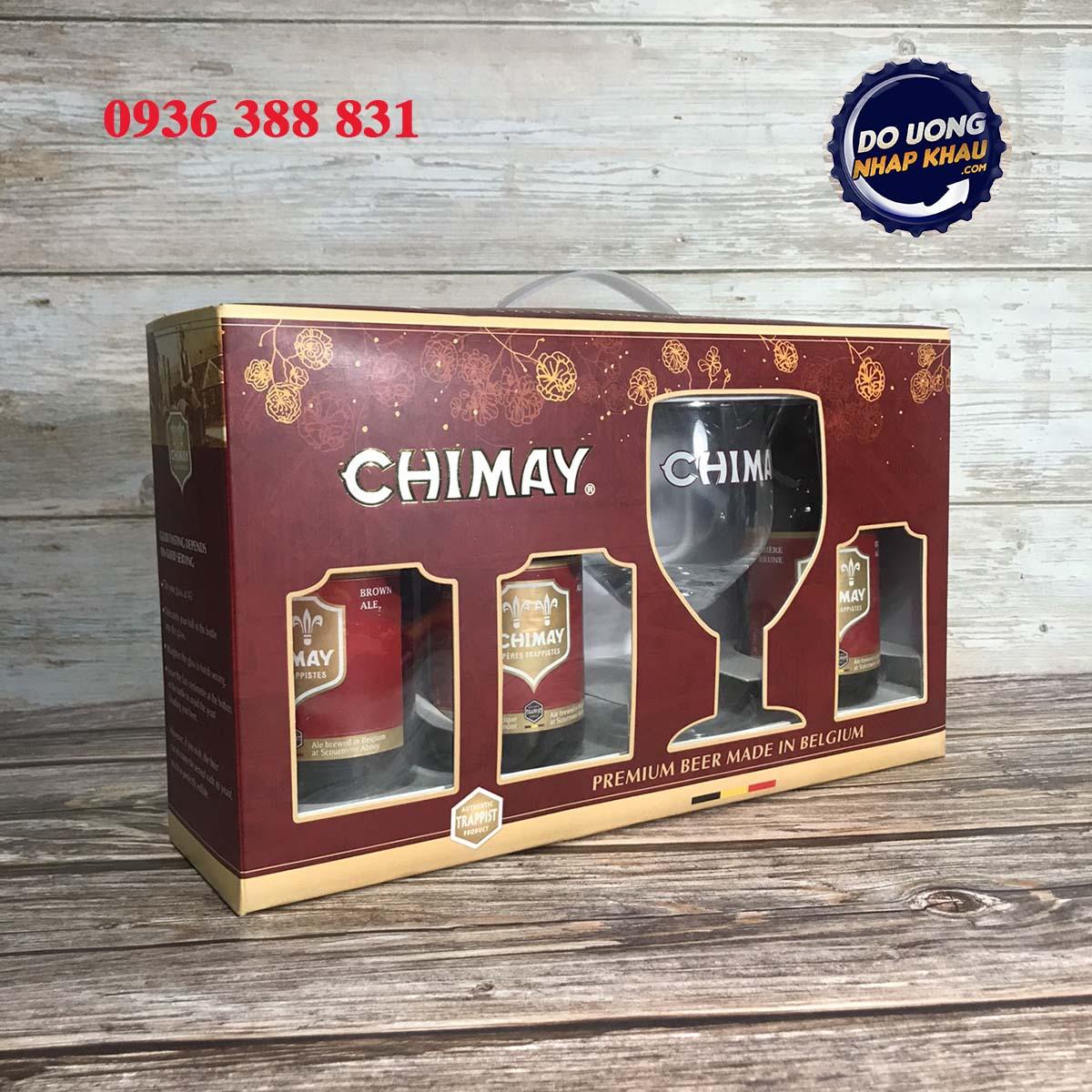 Xách quà bia Chimay đỏ