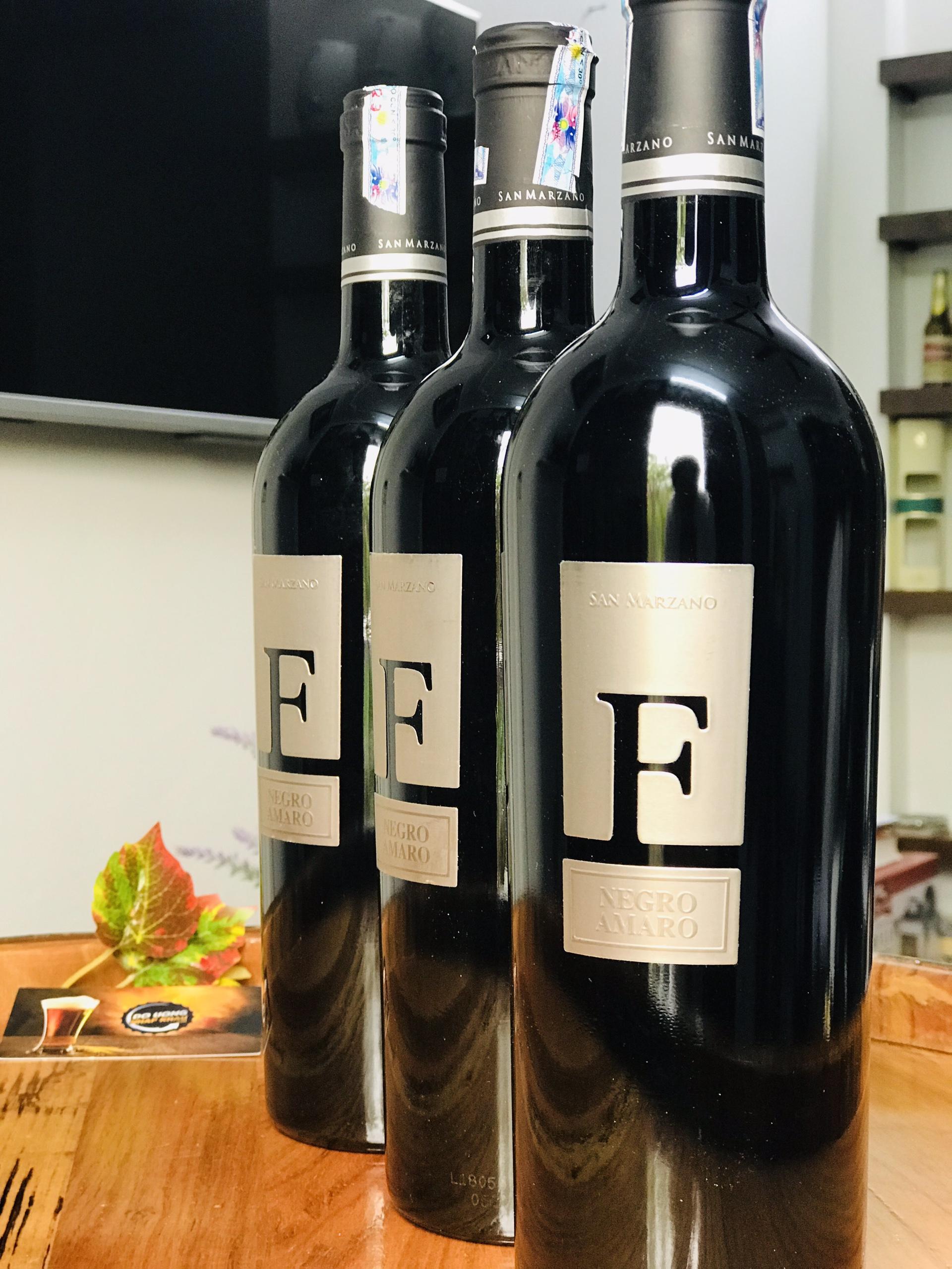 Vang F Negroamaro là một trong những chai vang tự hào nhất của San Marzano