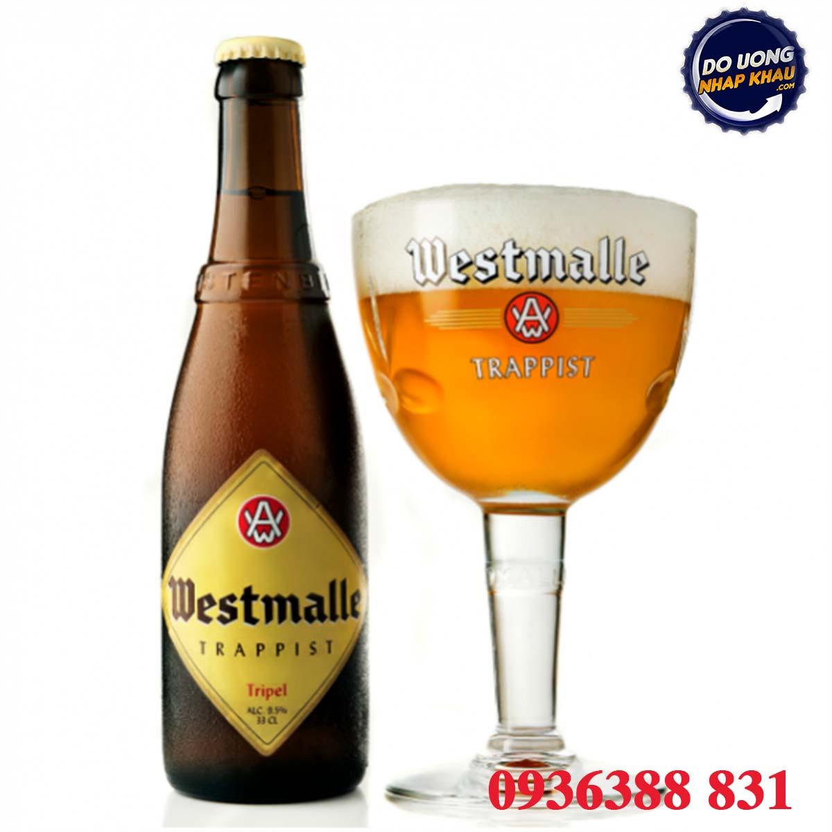 Bia Westmalle Trappist Tripel 9,5% Bỉ