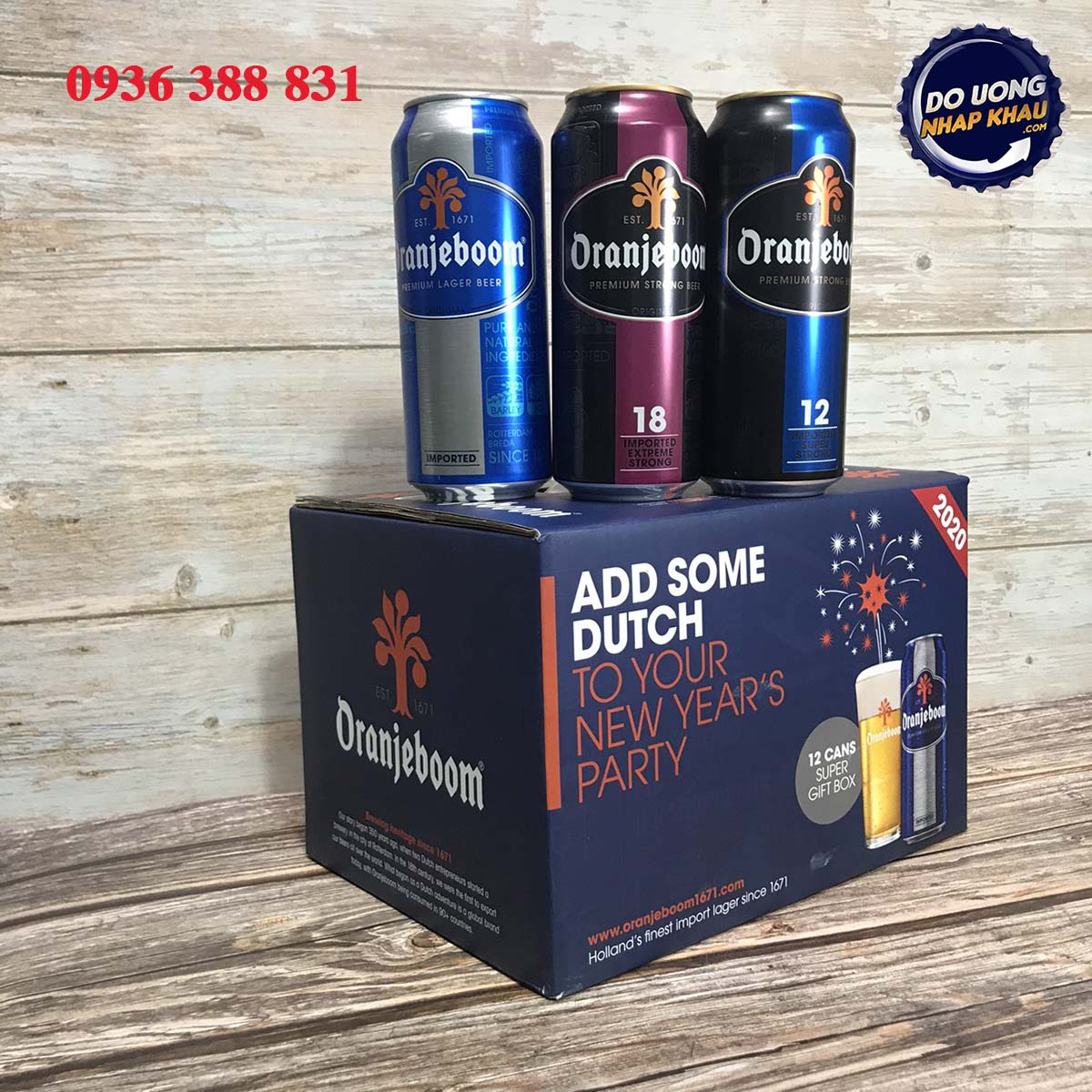 Hộp quà bia Oranjeboom Hà Lan