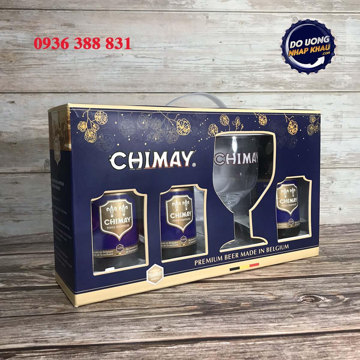 Xách quà bia Chimay xanh
