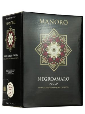 Vang Manoro Negroamaro bịch 3l