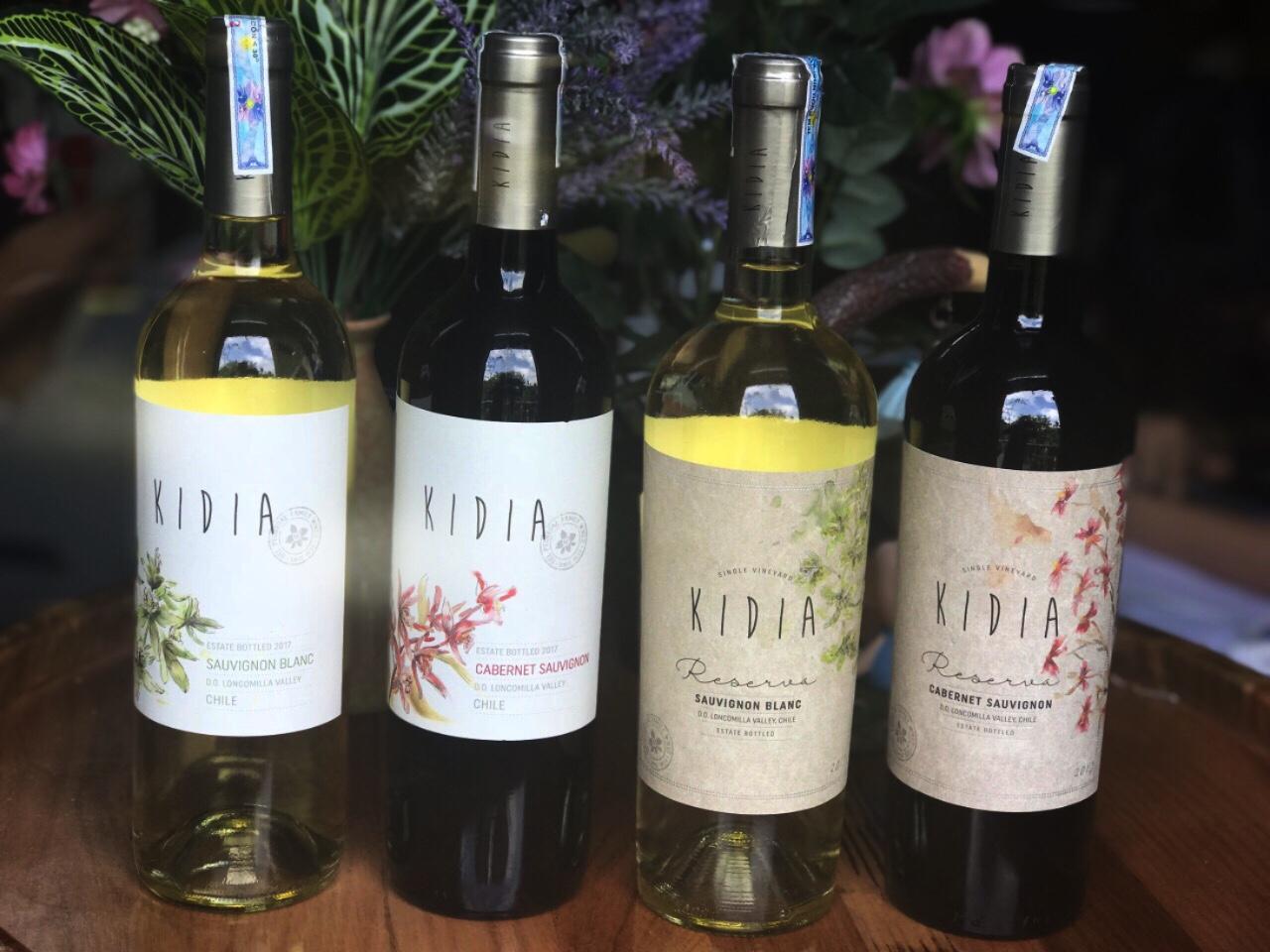 Rượu vang Chile giá rẻ Kidia