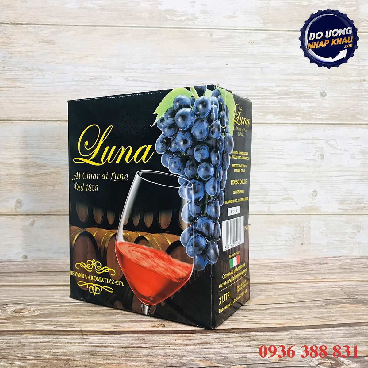 Vang bịch 3L Luna Rosso Dolce 10%