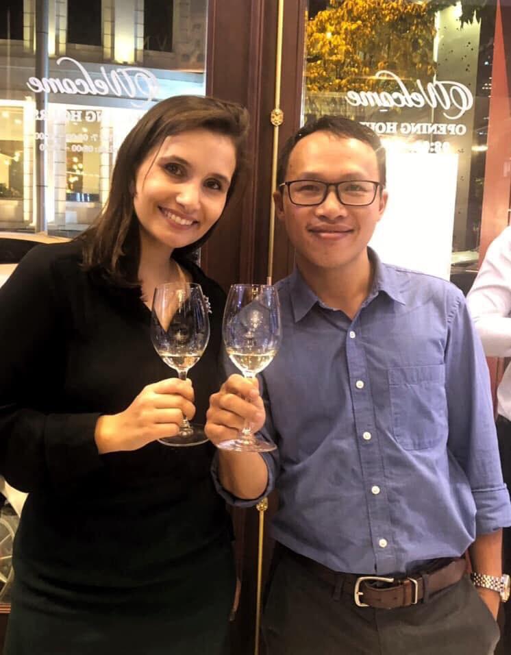Đại diện Thịnh Vang - Đồ Uống Nhập Khẩu gặp gỡ giám đốc thương hiệu của hãng vang lừng danh Chateau Mouton Rothschild