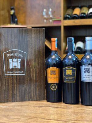 Hộp quà 3 chai vang Torri Doro