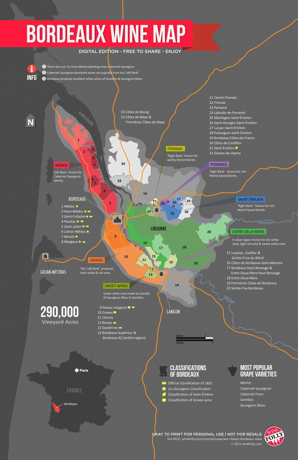 Bản đồ vang Bordeaux