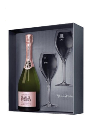 Champagne Charles Heidsieck Rosé Réserve (giftbox + 2 glasses)
