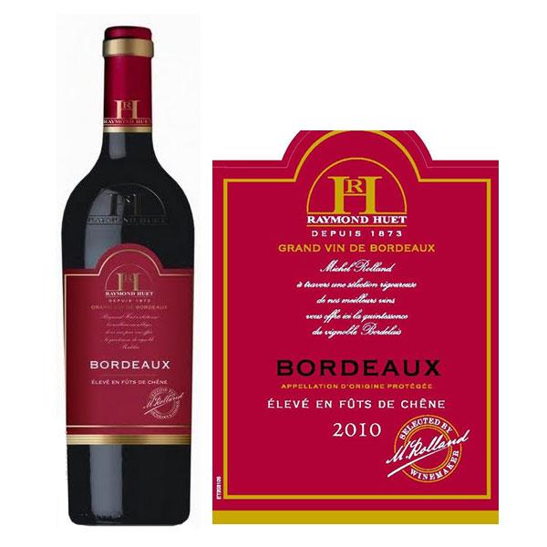 Raymond Huet Bordeaux élevé en fûts de chêne
