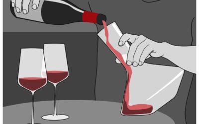Thời gian rượu vang thở trong bình decanter là bao lâu?